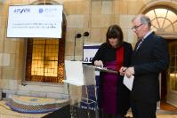 """Illustration of """"Inauguration of the search engine and the smartphone application for the journalists of the EMM-API, with..."""