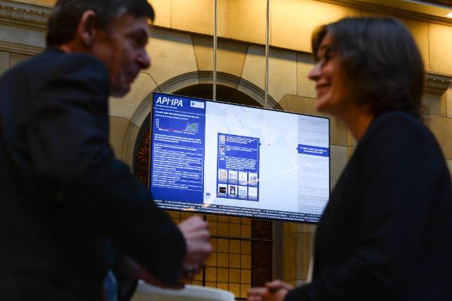Lancement du moteur de recherche et de l'application smartphone pour journalistes de l'EMM-API, avec la participation de Máire Geoghegan-Quinn, membre de la CE
