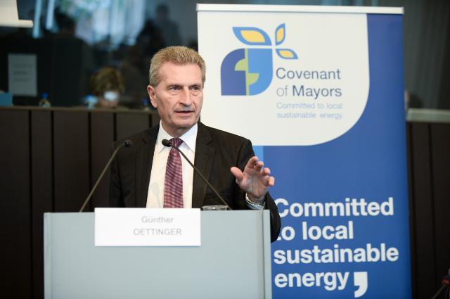 Participation de Günther Oettinger, vice-président de la CE, à la conférence à haut niveau 'Administrations locales pour la sécurité énergétique de l'Europe'