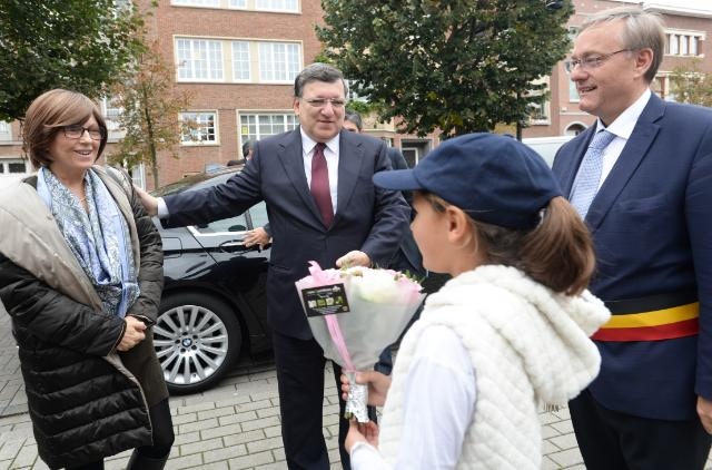 Participation of José Manuel Barroso, President of the EC, in the opening ceremony of the 'Tree of European Democracy', in Etterbeek