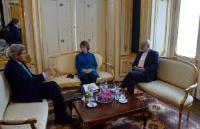 """Illustration of """"Participation de Catherine Ashton, vice-présidente de la CE, aux discussions E3/UE+3 sur le nucléraire à..."""