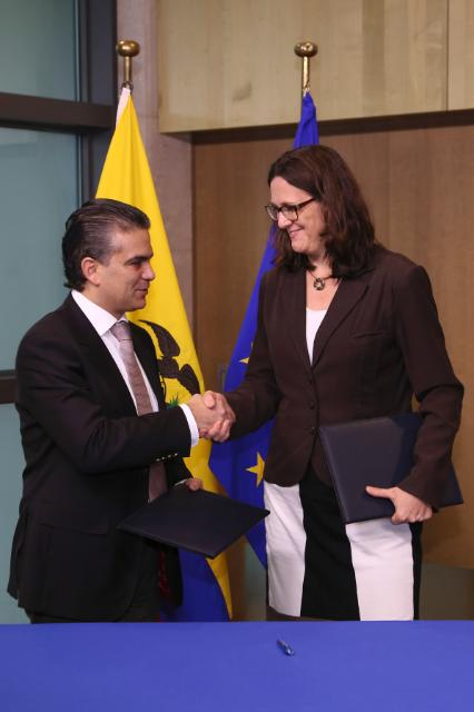 Initialling ceremony of the Trade Agreement between the EU and Ecuador