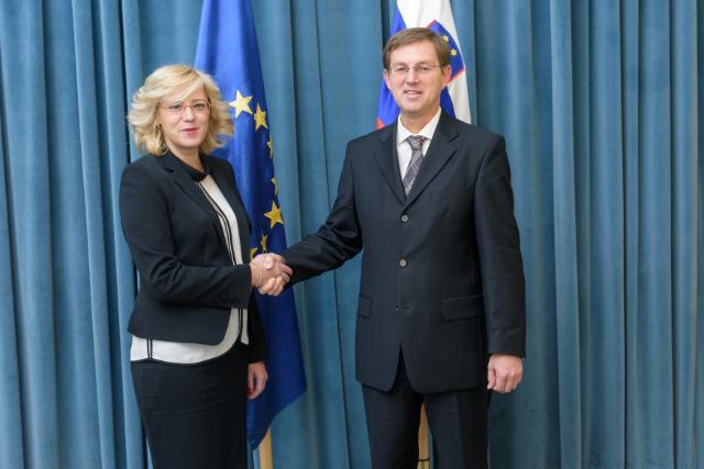 Visit by Corina Creţu, Member of the EC, to Slovenia