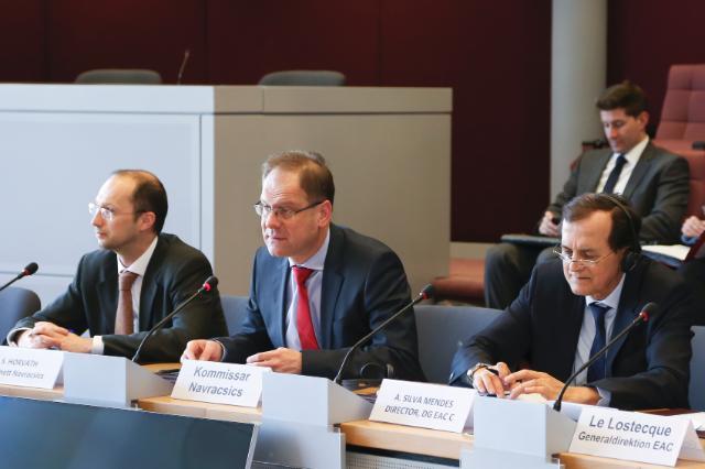 Visite à la CE des membres de la commission des Sports du Bundestag allemand