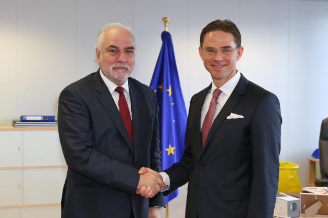 Visite de Louis Grech, vice-Premier ministre maltais; ministre des Affaires européennes et de la Mise en œuvre du manifeste électoral, à la CE