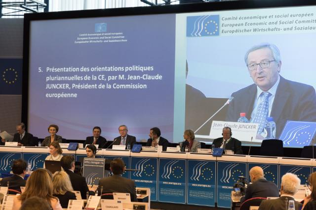 Presentation by Jean-Claude Juncker, President of the EC, of the multiannual political guidelines of the EC, at the plenary session of the EESC
