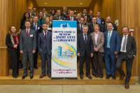 Group photo, in the presence of, in the 1st row, from left to right: Dominique Ristori, Director General of DG