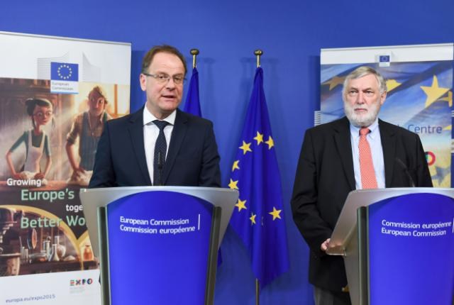 Joint press conference by Tibor Navracsics, Member of the EC, and Franz Fischler, President of the EU Steering Committee for Expo 2015, on the launch of the public consultation on global food security and sustainability