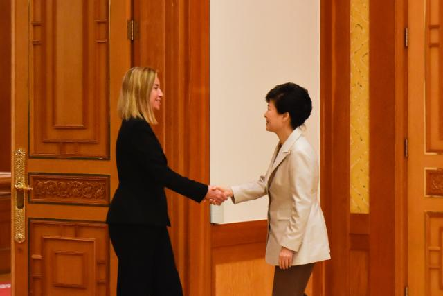 "Illustration of ""Visit by Federica Mogherini to South Korea"""