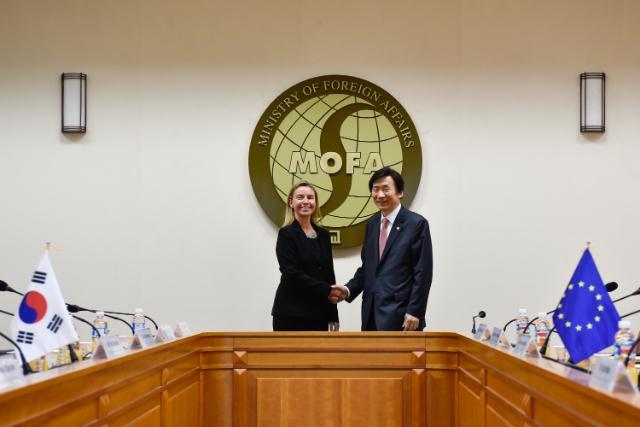 Visite de Federica Mogherini en Corée du Sud