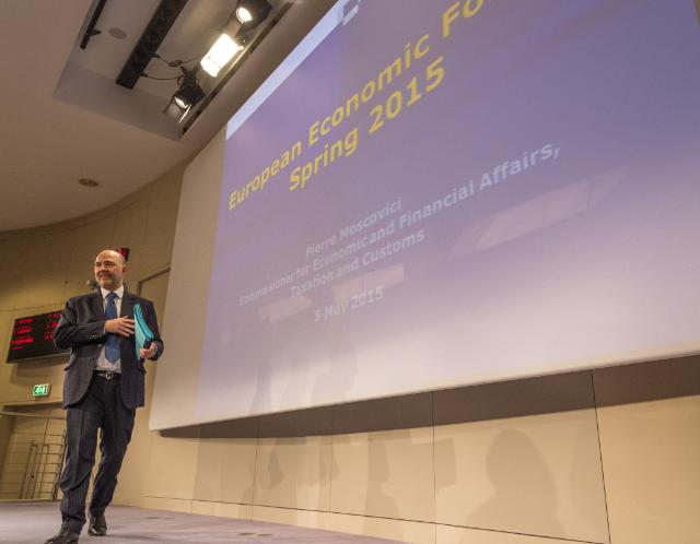 Press conference by Pierre Moscovici, Member of the EC, on the 2015 Spring Economic Forecast