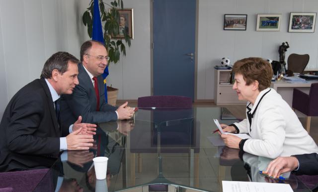 Visite de Marian-Jean Marinescu, membre du PE et vice-président du Groupe PPE au PE, à la CE