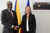 Visite de Moussa Faki, ministre tchadien des Affaires étrangères et de l'Intégration africaine, à la CE