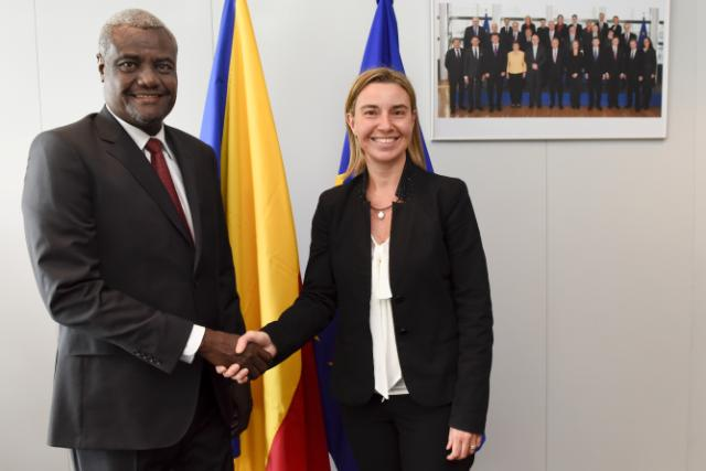 Federica Mogherini receives Moussa Faki, Chadian Minister for Foreign Affairs and African Integration