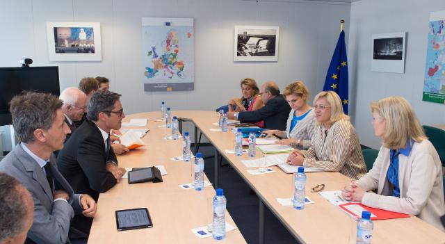 Visit to the EC of a group of Presidents involved in the macro regional alpine strategy