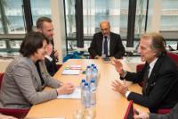 Visite de Luca Cordero di Montezemolo, président d'Alitalia, à la CE