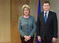 Visit of Maria João Rodrigues, Member of the EP, to the EC