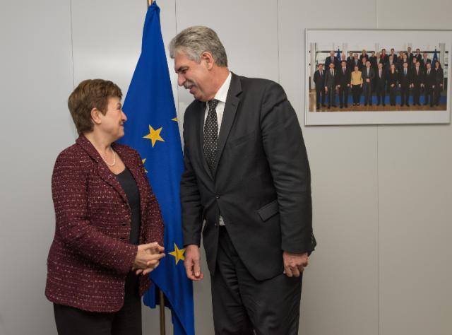 Visite d'Hans Jörg Schelling, ministre fédéral autrichien des Finances, à la CE