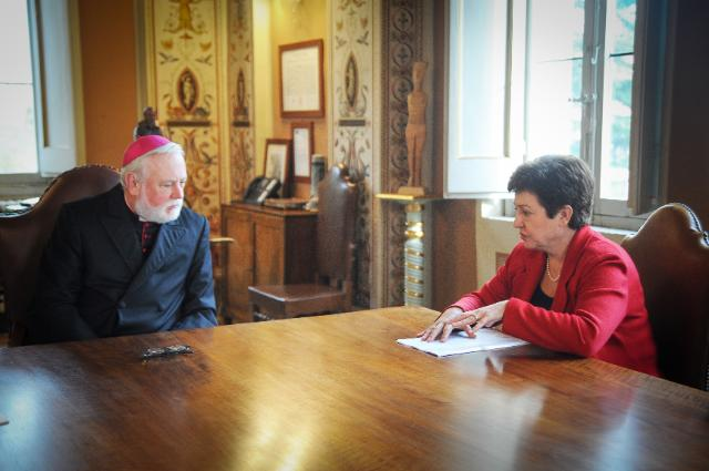 Visit of Kristalina Georgieva, Vice-President of the EC, and Christos Stylianides, Member of the EC, to the Holy See/Vatican City State