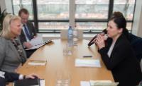 Visite de Virginia Rometty, présidente, présidente du conseil et PDG d'IBM, à la CE