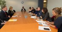 Visite des représentants des organisations européennes des droits d'auteurs, à la CE