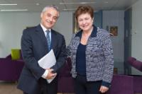 Visit of Maurizio Massari, Italian Permanent Representative to the EU, to the EC