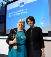 Marianne Thyssen, Member of the EC, at the Access City Award 2017 Ceremony