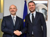 Visite de Luca Visentini, secrétaire général de la Confédération européenne des syndicats, à la CE