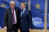 Visite de Dacian Ciolos, ancien membre de la CE, et ancien Premier ministre roumain, à la CE