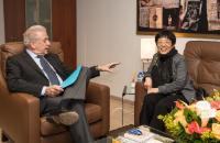Visite de Yang Yanyi, chef de la mission de la Chine auprès de l'UE, à la CE