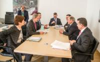 Meeting between Johannes Hahn, Member of the EC, and Hani Al-Mulki, Prime Minister of Jordan