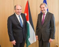 Meeting between Johannes Hahn, Member of the EC, and Hani Al-Mulki, Prime Minister of Jordan