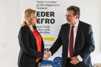 Visit of Corina Creţu, Member of the EC, to Sint-Jans-Molenbeek, Belgium