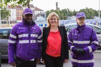 Visit by Corina Creţu, Member of the EC, to Molenbeek, Belgium