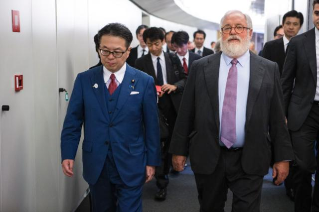 Visit of Hiroshige Seko, Japanese Minister for Economy, Trade and Industry, to the EC