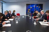 Visite de Karl-Heinz Lambertz, President of the Committee of the Regions (CoR), à la CE