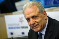 Participation de Dimitris Avramopoulos, membre de la CE, au Forum européen sur les migrations
