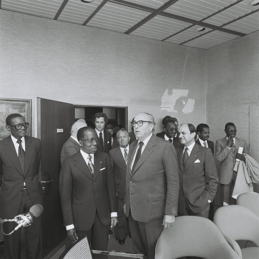 Visit by Léopold Senghor, President of Senegal, to the CEC