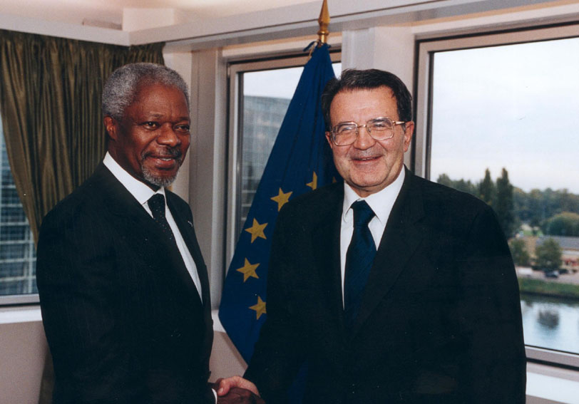 Visit of Kofi Annan, UN Secretary General, to the European Parliament