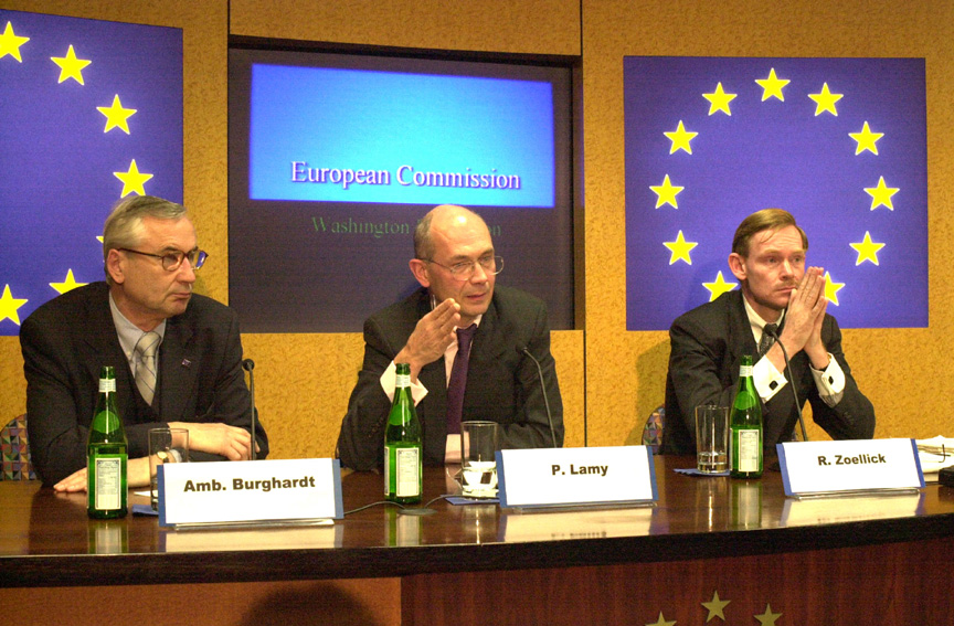 Joint press conference with Pascal Lamy, Günter Burghardt and Robert Zoellick