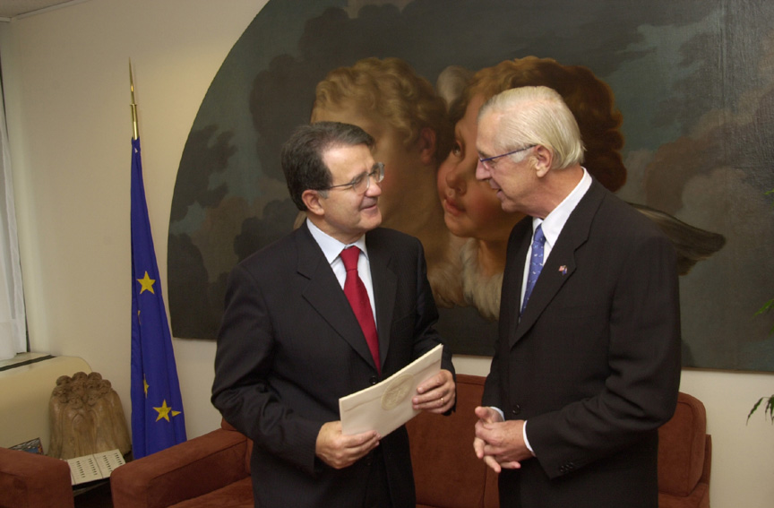 Presentation of the credentials of the Head of the Mission of the United States, to Romano Prodi, President of the EC