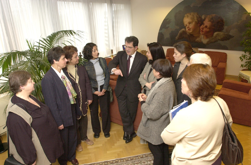 Visit of a group of Israeli and Palestinian women to the EC