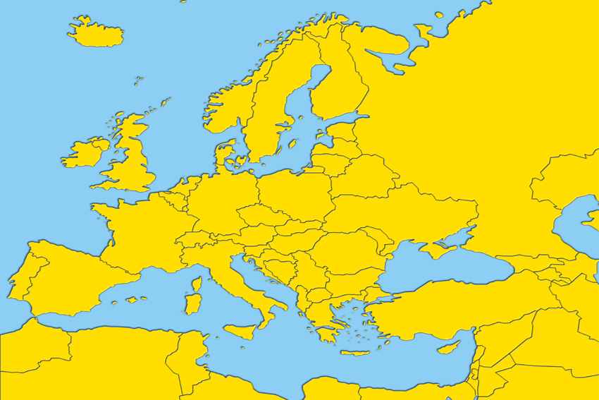 Historical geographic maps of Europe, the EU and the candidate countries