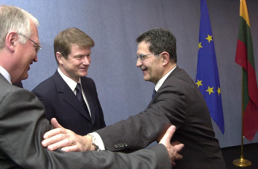 Visite de Rolandas Paksas, président de la Lituanie, à la CE