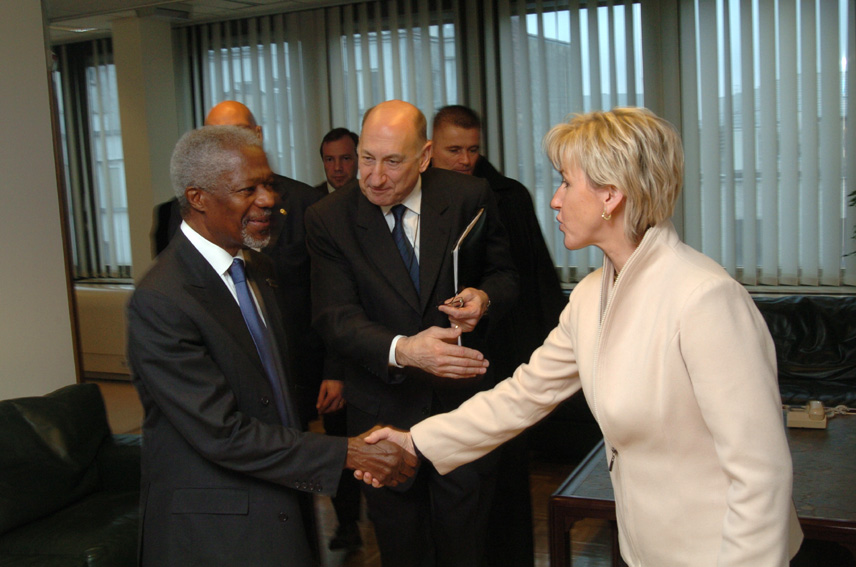Visit of Kofi Annan, UN Secretary General, to the EC