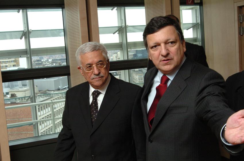 Visite de Mahmoud Abbas, président de l'Autorité palestinienne, à la CE