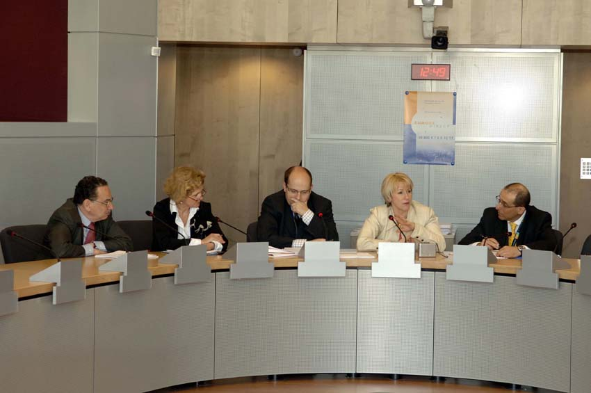 Visit of Margot Wallström, Vice-President of the EC, to the  'Europe Direct' team