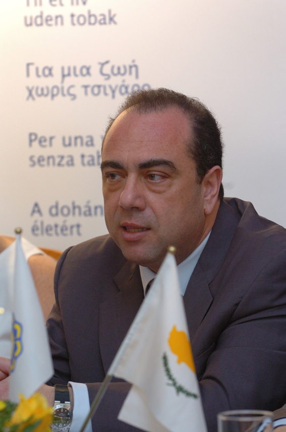 Launch of EU anti-smoking campaign in Cyprus by Markos Kyprianou, Member of the EC