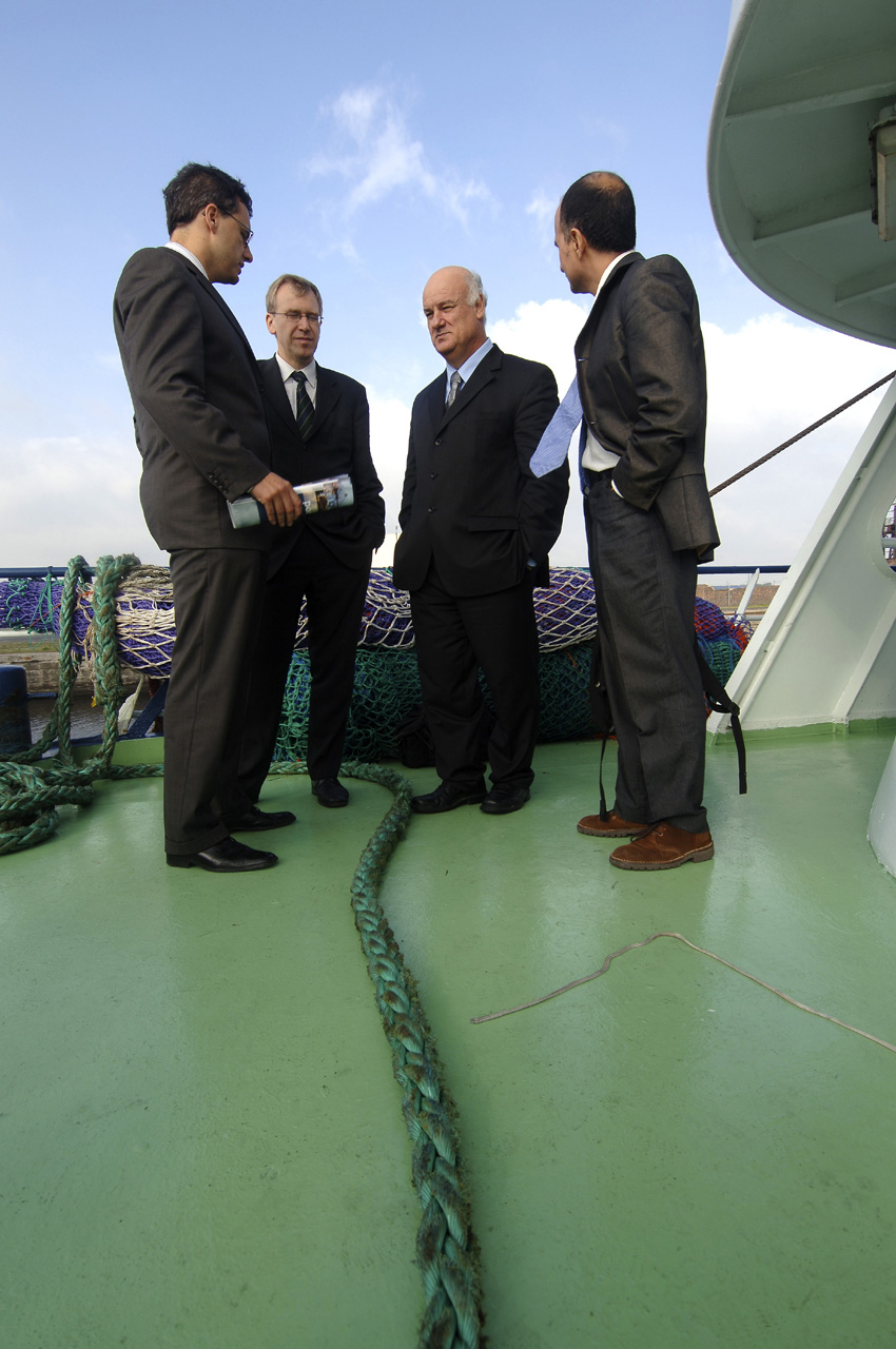 Visit of Joe Borg, Member of the EC, to the Harbour of Zeebrugge