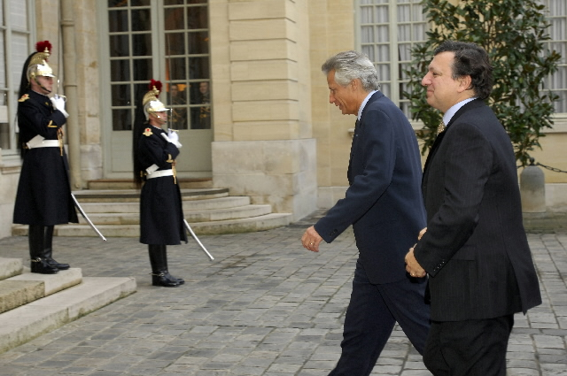 Visit by José Manuel Barroso, President of the EC, to France